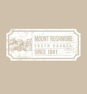 Mt Rushmore Tee- Ticket Sand - S