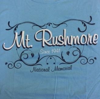 Mt Rushmore Tee- 1941 National Memorial Blue- S