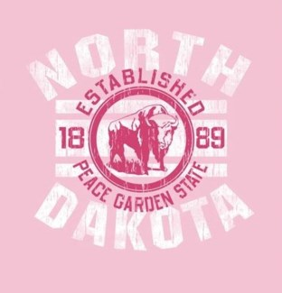 ND Tee- Pink Salute - S