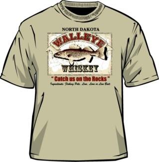 ND Walleye Whiskey Sand Tee M