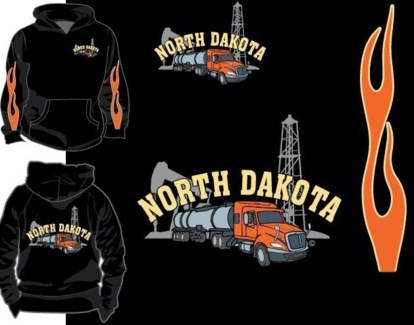 ND Oil Truck Full Zip Hoody M
