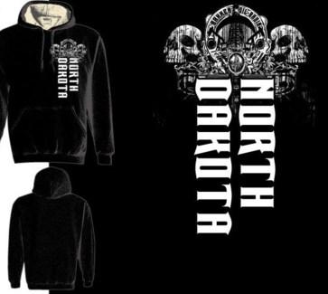 ND Double Skull Thermal Black Hoody XXL