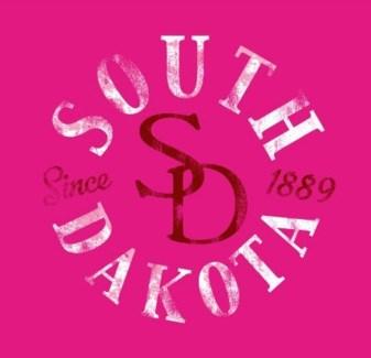 SD Tee- Pink South Dakota Since.. - S