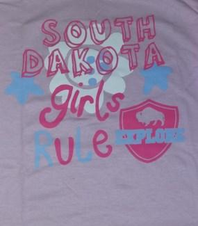 SD Tee- Lt Pink Girls Rule - S