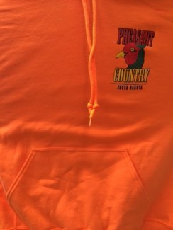 SD Pheasant Country Orange Hoody L