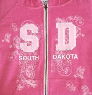 SD Full Zip Pink Hoody S