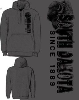 SD Buffalo 1/4 Zip Grey Hoody S