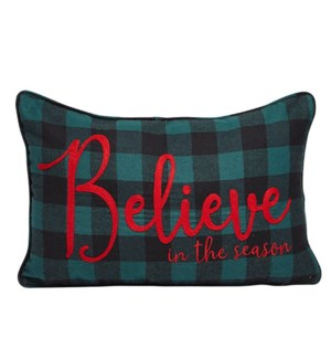 Believe Holiday Cushion Cover Multi