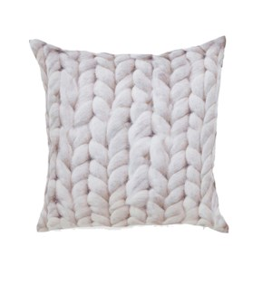 Cable Knit Printed Cushion Cover Tan