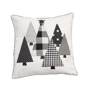 Festive Forest Cushion Cover Cream/Black