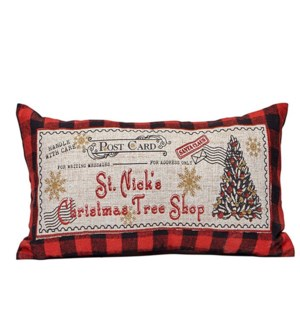Christmas Tree Shop Cushion Cover Red