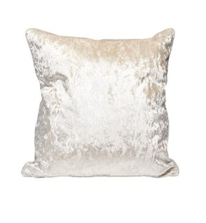 Crushed Velvet Cushion Cover Champagne