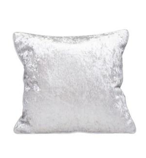 Crushed Velvet Cushion Cover Silver