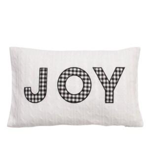 Joy Cushion Cover Cream/Black