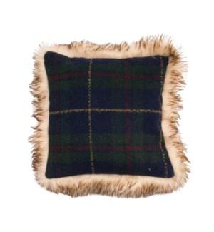 Edinburgh Check Cushion  Forest/Blue