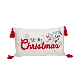 Merry Christmas Holiday Cushion Cover Multi