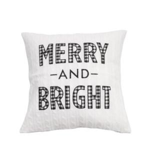 Merry & Bright Cushion Cover Cream/Black