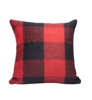 Buffalo Check Cushion Cover Red/Black