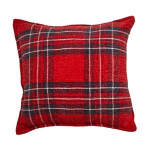 Tartan Cushion Cover Red