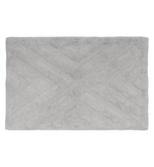 Diamond Cotton Bath Mat Grey