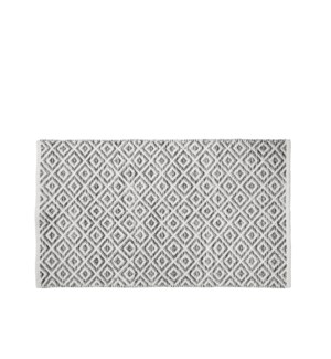 Diamond Floor Accent Rug Grey