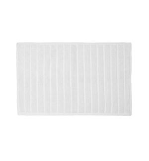 Bold Stripe Cotton Bath Mat White