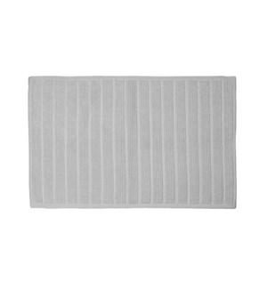 Bold Stripe Cotton Bath Mat Grey