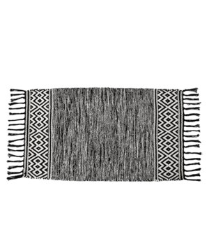 Heathered Floor Accent Rug Black