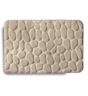 Embossed Stone Memory Foam Bath Mat Taupe