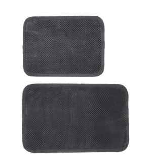 Madame Bain Microfiber Bath Mat Set of 2 Charcoal