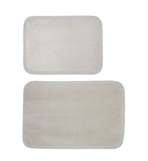 Madame Bain Microfiber Bath Mat Set of 2 Grey