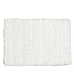 Luxe Ribbed Memory Foam Bath Mat White
