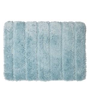Luxe Ribbed Memory Foam Bath Mat Aqua