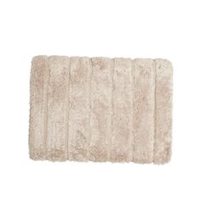 Luxe Ribbed Memory Foam Bath Mat Cream