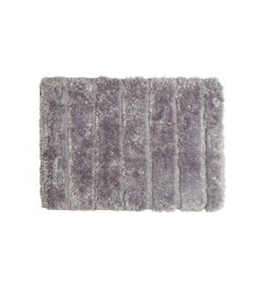 Luxe Ribbed Memory Foam Bath Mat Charcoal