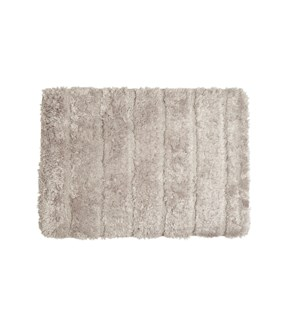 Luxe Ribbed Memory Foam Bath Mat Taupe
