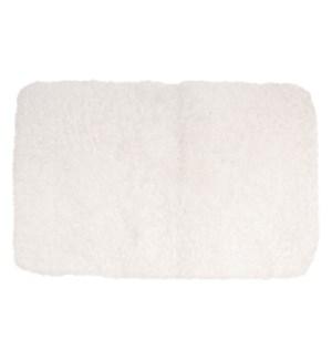 Sherpa Microfiber Bath Mat White