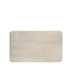 Ribbed Velour Accent Mat Cream