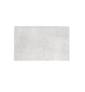 Reversible Ripple Microfiber Bath Mat White