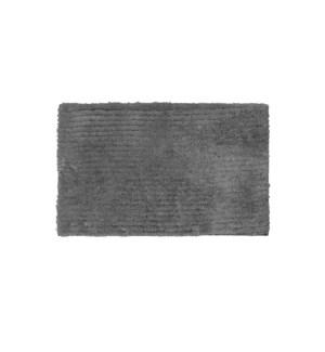 Reversible Ripple Microfiber Bath Mat Charcoal