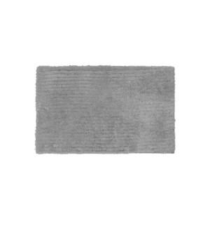 Reversible Ripple Microfiber Bath Mat Grey