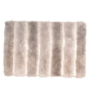 Two-Tone Plush Microfiber Bath Mat Taupe