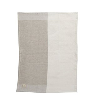Two Tone Waffle Single Kitchen Towel Tan
