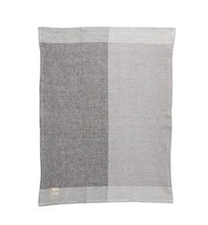 Two Tone Waffle Single Kitchen Towel Grey
