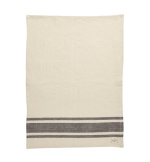 Bistro Stripe Single Kitchen Towel Black