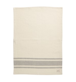 Bistro Stripe Single Kitchen Towel Charcoal