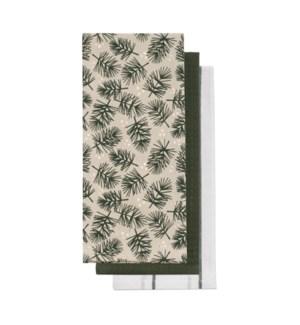 Firs Tea Towel S/3 Green