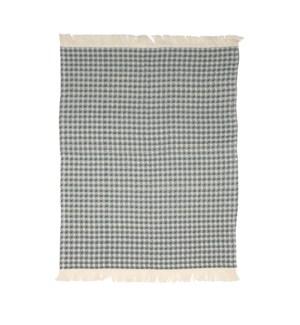 Jumbo Waffle Fringe Tea Towel Charcoal