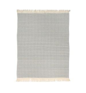 Jumbo Waffle Fringe Tea Towel Grey