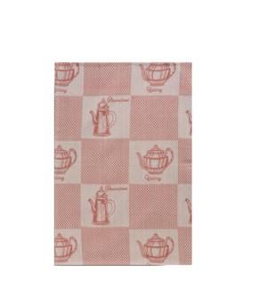 Tea Pots Single Kitchen Towel Red